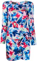 Moschino floral ruched dress