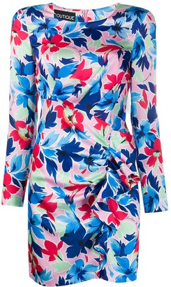 Boutique Moschino Floral Ruched Dress