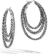 John Hardy Women's Classic Chain Medium Hoop Earrings