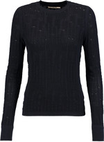 J Brand Textured-knit cotton sweater