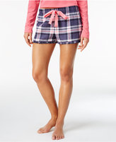 Jenni by Jennifer Moore Plaid Flannel Boxer Pajama Shorts, Only at Macy's