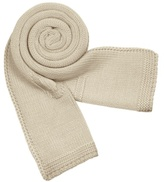 Beige Signature Knit Wool Long Scarf