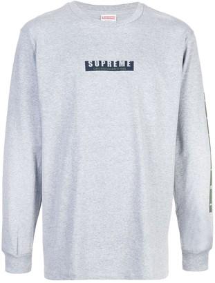 Supreme logo print long-sleeved T-shirt