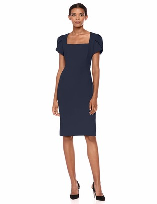 Donna Morgan Women's Tulip Sleeve Sheath Dress