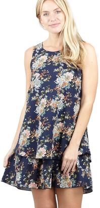 M&Co Izabel layered hem tunic dress