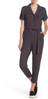 Dress Forum Short Sleeve Button Utility Jumpsuit