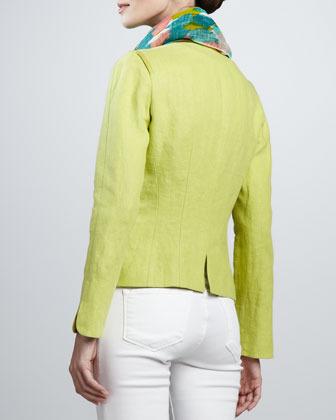 Lafayette 148 New York Haley Linen Jacket, Plantain