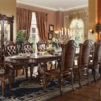 Astoria Grand Welles Carved Extendable Dining Table