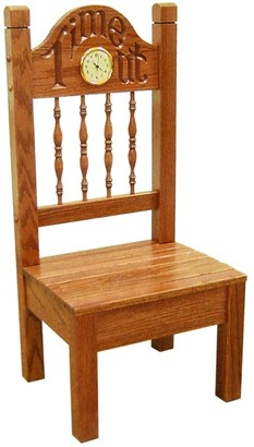 Kunkle Holdings Child's Oak Time Out Chair with Clock