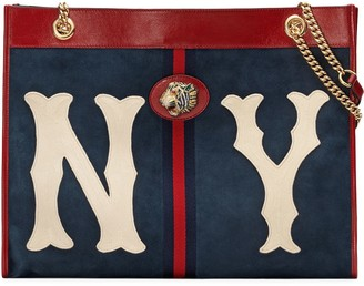 Gucci Large tote with NY Yankees patch