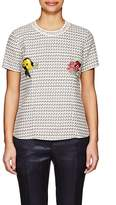 Thom Browne WOMEN'S FLORAL-EMBROIDERED COTTON-BLEND TWEED SHIRT
