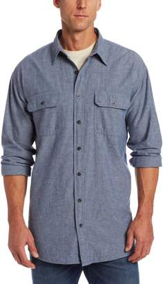 Key Apparel Men's Big-Tall Long Sleeve Button Down Pre-Washed Chambray Shirt