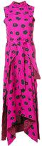Proenza Schouler printed flared dress - women - Silk/Viscose - 2
