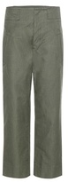 Etoile Isabel Marant Isabel Marant, Étoile Isaac Cotton And Linen Cropped Trousers