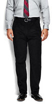 Classic Men's Pleat Front Comfort Waist 10-wale Corduroy Trousers Navy
