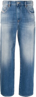 Diesel D-Reggy high-rise cropped jeans