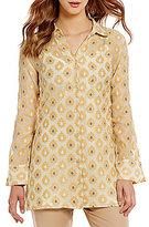 Sigrid Olsen Signature Button-Down Collar Printed Woven Shirt Jacket