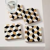 west elm Wood + Resin Coasters (Set of 4)