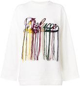 Golden Goose Deluxe Brand logo embroidered sweatshirt