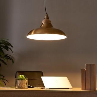 Olen 1 - Light Single Dome Pendant with Wood Accents Brayden Studio