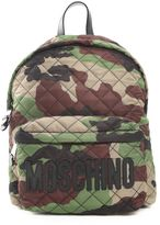 Moschino Logo Lettering Camo Nylon Backpack