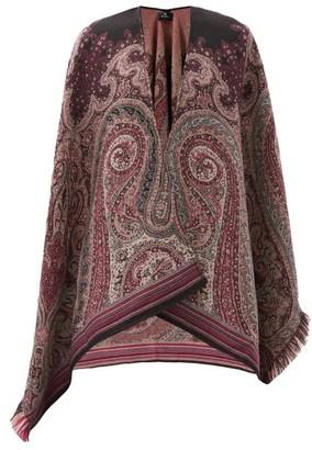 Etro Paisley-jacquard Wool Cape - Multi