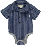 Boy's Striped Woven Bodysuit w/ Children's Book, Size 0-24 Months