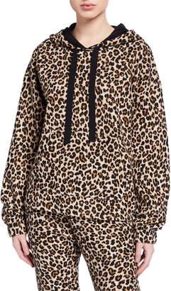 Velvet Kassidy Leopard-Print Hoodie Sweatshirt