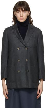 Thom Browne Grey 120s Wool Sack Blazer