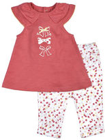 Petit Lem Baby Girls Delicate Top and Leggings Set