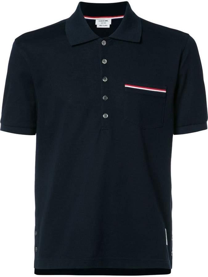 Thom Browne chest pocket shortsleeved shirt