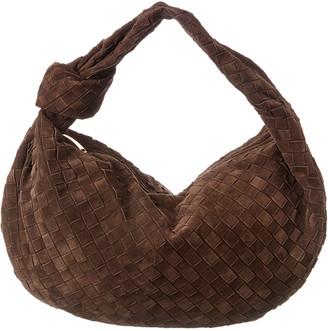 Bottega Veneta Jodie Medium Intrecciato Suede Hobo Bag