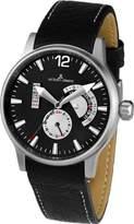Jacques Lemans Men's 1-1741G Porto Sport Analog Black Leather Strap Watch