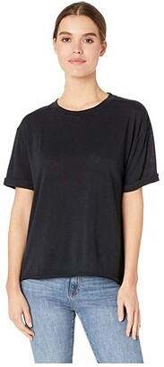 Free People Cassidy Tee (Black) Women's T Shirt