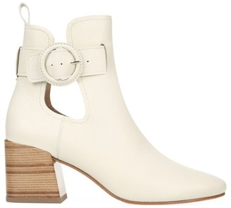 Via Spiga Darcie Leather Buckle Booties