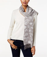 Charter Club Ditsy Floral Woven Cashmere Scarf, Only at Macy's