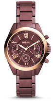 Fossil Modern Courier Midsize Chronograph Wine Stainless Steel Watch