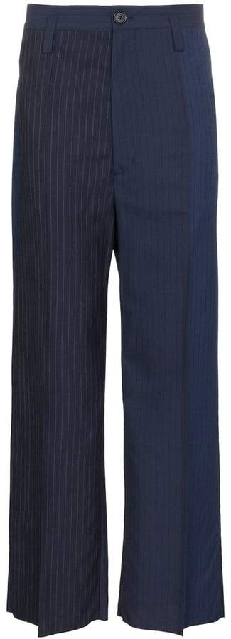 Marni Pinstripe Two-Tone Trousers