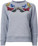 Alexander McQueen embellished butterfly swetshirt