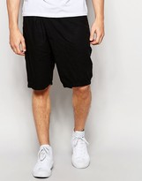 Lindbergh Loose Shorts With Fold Over Front In Black