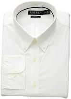 Lauren Ralph Lauren Non-Iron Slim Fit Stretch Dress Shirt (White 1) Men's Long Sleeve Button Up