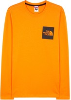 The North Face Orange Logo-print Cotton Top