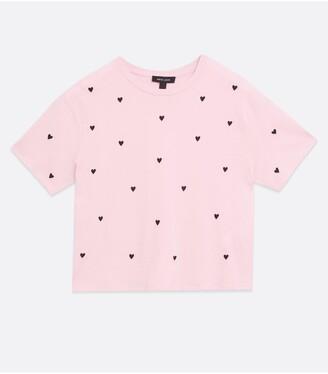 New Look Heart Boxy T-Shirt - Print