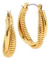 Diane von Furstenberg All the Glitz Omega Twist Oval Hoop Earrings- 1in