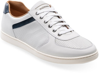 Magnanni Men's Echo Lo II Perforated Leather Low-Top Sneakers