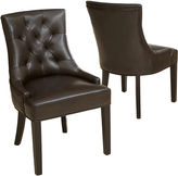 JCPenney Lincoln Set of 2 Tufted Bonded Leather Dining Chairs