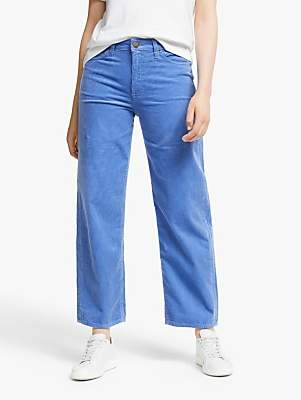 Lee Wide Leg High Waist Cropped Cord Jeans