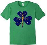 Women's Vintage Irish Flag of indiana Shamrock T-Shirt Large