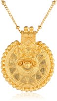 "Satya Jewelry Classics"" Long Mandala Pendent Necklace, 36"""
