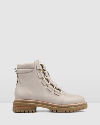Jo Mercer - Women's Neutrals Lace-up Boots - Blakely Flat Ankle Boots - Size One Size, 36 at The Iconic